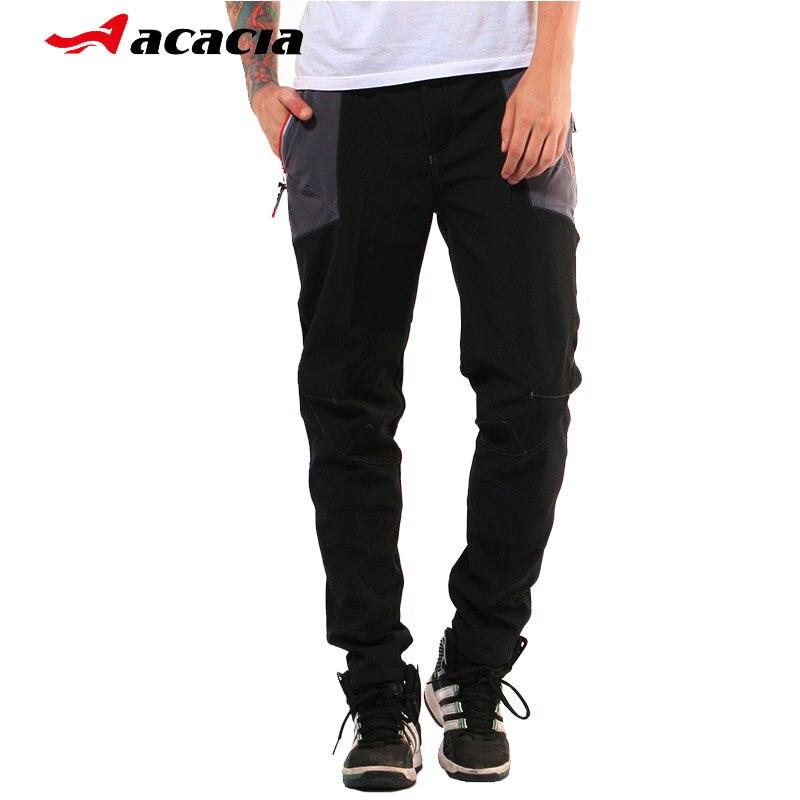 ACACIA Warm Fleece Men Cycling Long Pants Multifunction Sportswear Winter Bicycle Trousers Clothing Sports Bike Pants ku0299
