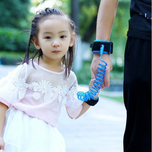 Children Kids Toddler Anti Lost Wristband PU Link Baby Safety Leash Harness Hand Ring Child Traction Rope Adjustable Braclet