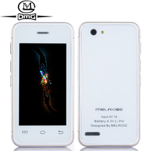 "Original Melrose S8 MTK6580 Quad-core Mini mobile phone Android 4.4 2.4"" WCDMA 3G Smartphone Single SIM touch screen cell phones(China)"