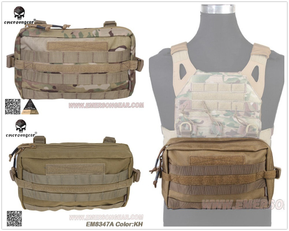 Laser-Cut Molle Pouch Pocket Velcro for Outdoor Sports Tactical Waist Pack Bag