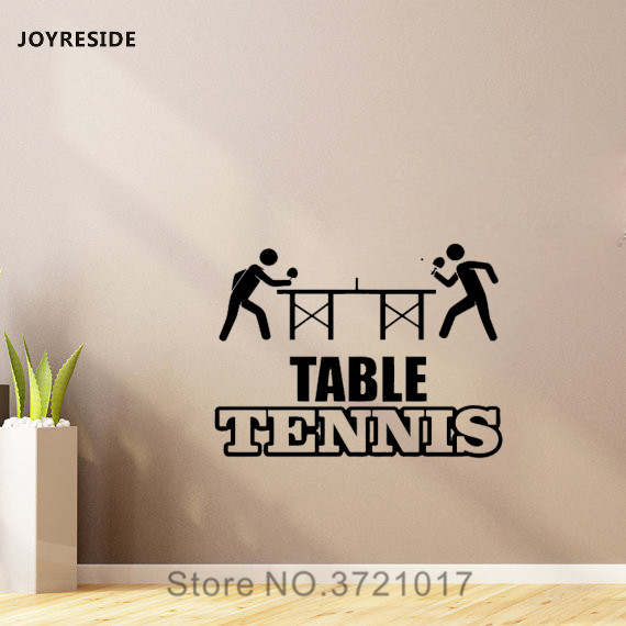 Dinding Decal Vinyl Sticker Ping Pong