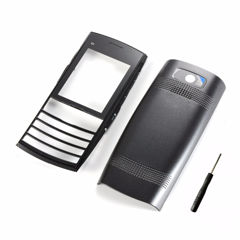 For Nokia X2 X2-02 Phone Housing Front Frame + Battery Back Cover+Tools( No Keypads)