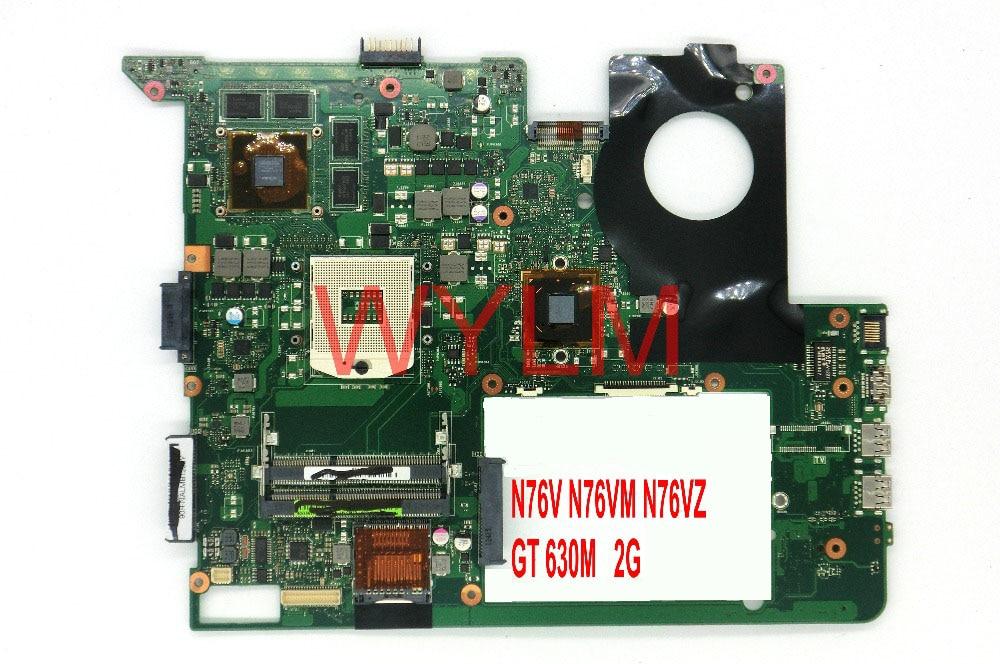 free shipping N76VM GT630M 2G USB 3.0 DDR3 HM76 mainboard For ASUS N76V N76VM N76VJ N76VZ N76VB Laptop motherboard TESTED FULLY n56vm rev 2 3 laptop motherboard suitable for asus n56vm n56vj n56vz gt630m hm76 system motherboard original new