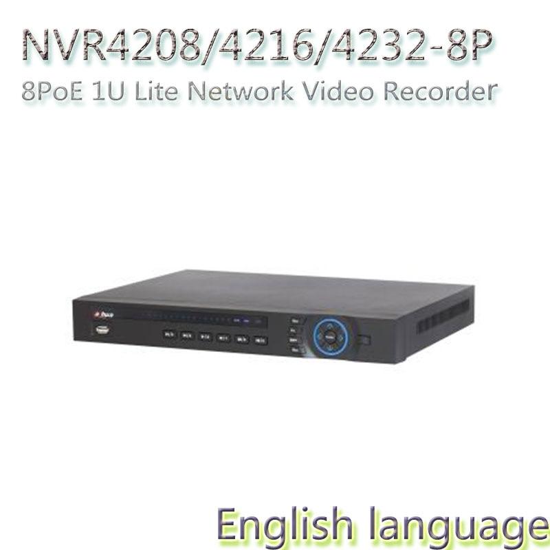 free DHL shipping ,8/16/32CH 1U NVR with 8POE DAHUA POE NVR NVR4208-8P/NVR4216-8P/NVR4232-8P