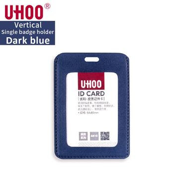 2 sztuk partia UHOO pionowe PU skórzane etui na dowód osobisty wizytownik na karty biznesowe etui na karty kredytowe 6810 skórzane etui na karty tanie i dobre opinie Posiadacza karty identyfikacyjnej Leather Available 54*85mm