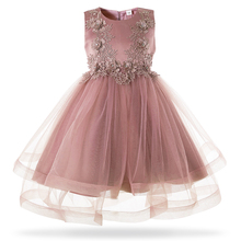 5a69658f654cb Mottelee Girls Mesh Princess Dress 2019 New Kids Formal Evening Ball Gown  Frock White Girl Birthday Party Dress For 3-10 Year