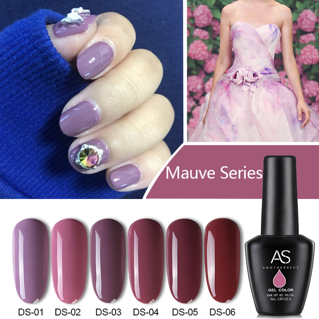 As Solid Colors Pure Gel Polish Manicure Nail Soak Off Uv Led