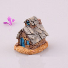 MINI Stone House Micro Fairy Garden Figurines House Miniatures/terrarium Doll House Decor/succulents DIY Ornaments Accessories(China)