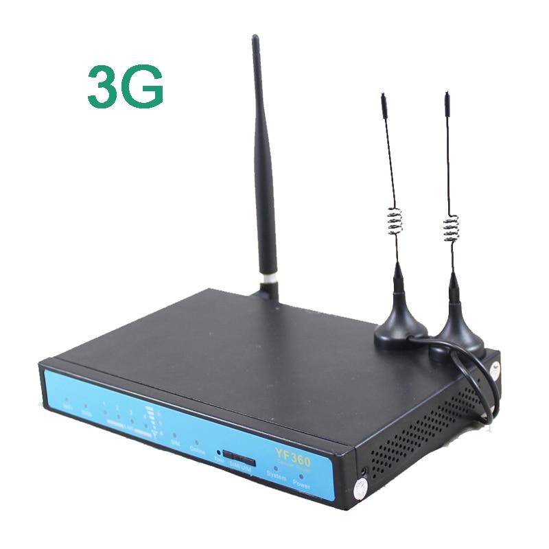 YF360 M2M industrijski 3G wifi vpn usmerjevalnik z zunanjo anteno