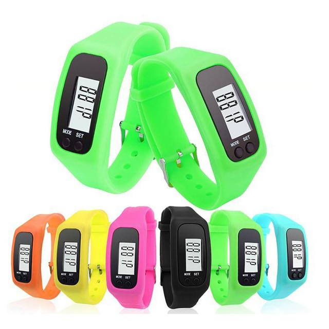 New Digital LCD Pedometer Run Step Walking Distance Calorie Counter Watch Bracel