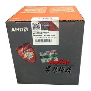 Image 1 - AMD Ryzen 7 1700 R7 1700 3.0 GHz שמונה ליבות שש עשרה חוט מעבד מעבד L3 = 16M 65W YD1700BBM88AE שקע AM4 חדש עם cooler