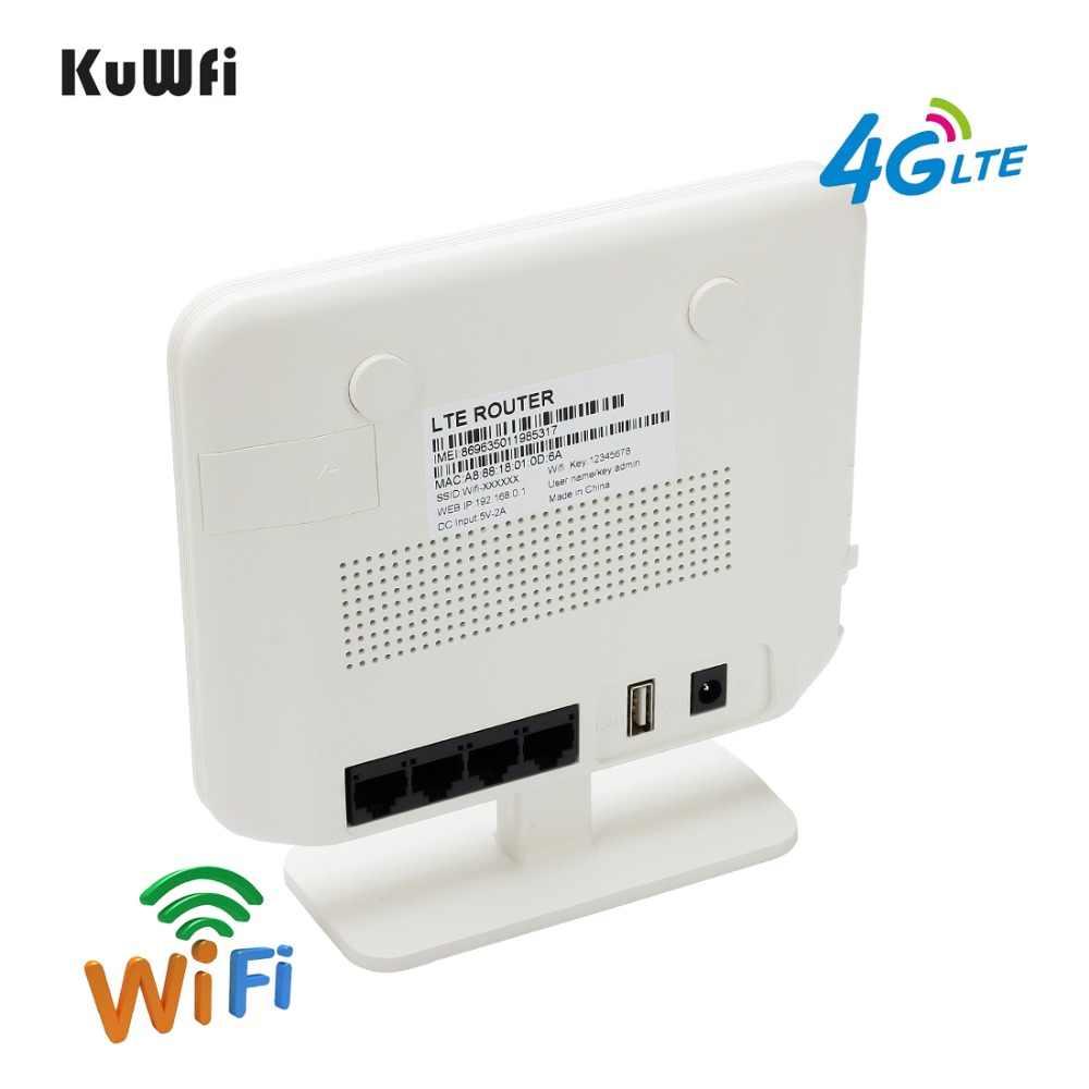 KuWFi סמארטפון 4G LTE CPE Wifi נתב 300Mbps אלחוטי נתב & אלחוטי מודם AP LTE נתב עם ה-SIM כרטיס Solt 5Dbi אנטנות