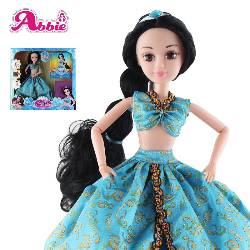Abbie Princenss Dolls Aladdin Doll New Arrived Brave Fashion Fun And Educational Toys Play with Children As Gift Christmas DIY original aladdin and the magic lamp action figures toy aladdin jasmine princess model doll