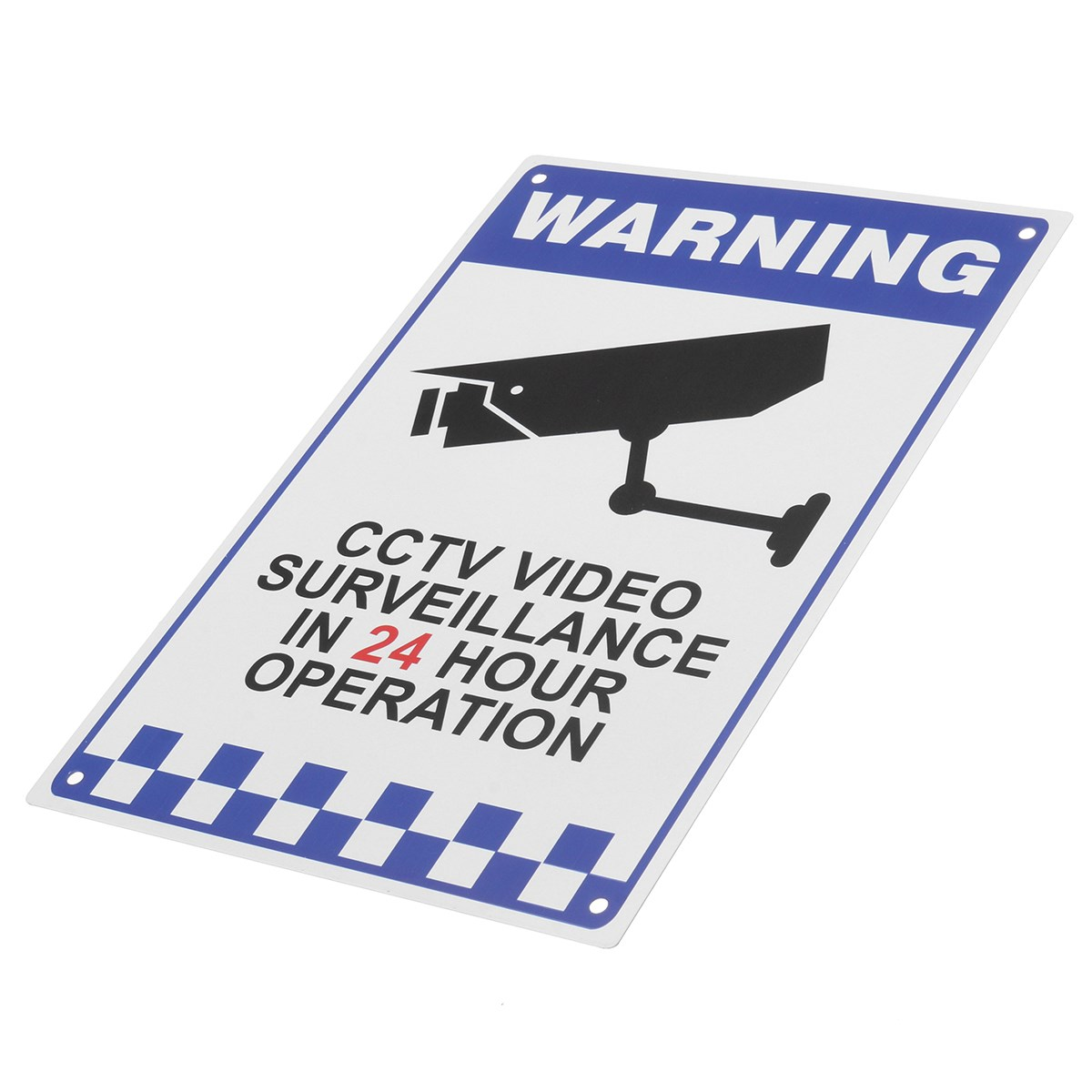 NEW CCTV Warning Security Video Surveillance Camera Safety Security Sign Reflactive Metal