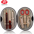 Free shipping! 777 Gold 7Pcs Plated Manicure Set Nail Clipper sets Finger Scissors