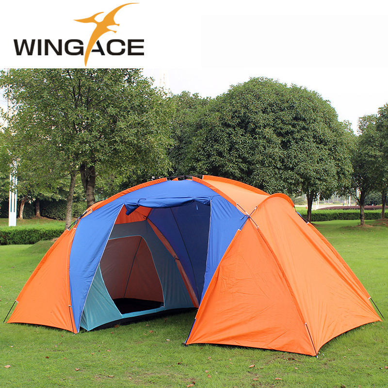 Outdoor recreation Tent Tourist 4 Season 4-8 Person  Camping Tents Travel tents camping family 2 bedroom