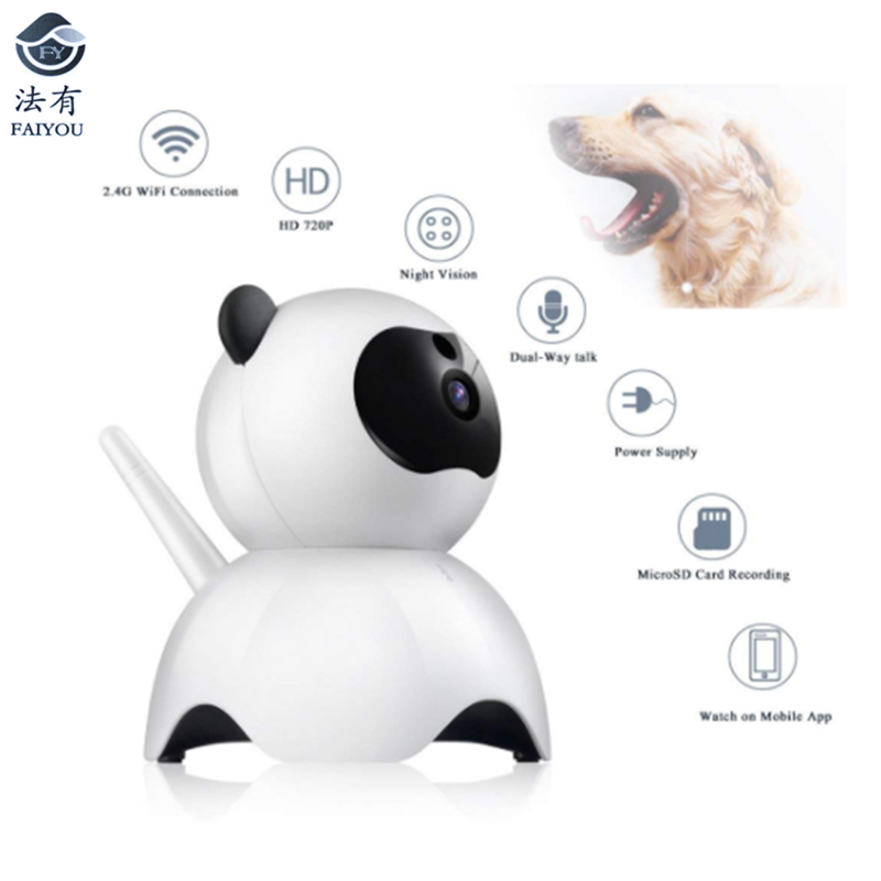 New Pet WIFI Mini Cute Camera IP P2P CCTV Cam H 264 Real Time Remotely Monitoring