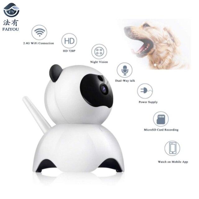 New Pet WIFI Mini Cute Camera IP P2P CCTV Cam H.264 Real Time Remotely Monitoring 1080P/720P Kid Surveillance Monitor IR Night