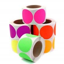 1in круглые цветные наклейки в горошек, записываемая клейкая этикетка 500 шт/всего для свадебного украшения, украшения своими руками