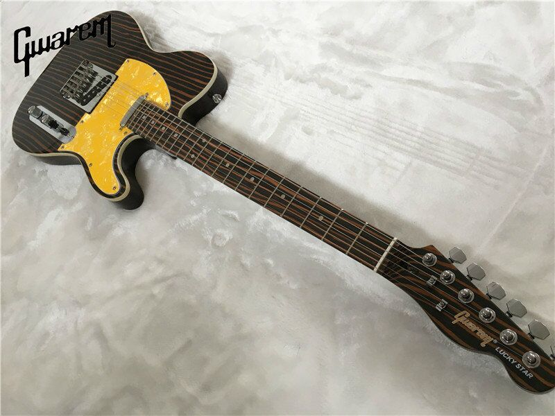 electric guitar gwarem luck star tele guitar zebrawood body guitar in china in guitar from. Black Bedroom Furniture Sets. Home Design Ideas