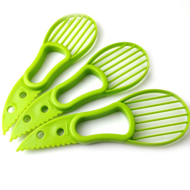 Avocado Slicer Corer Shea Butter Fruit Peeler Cutter Tools Divider Plastic Kitchen Vegetable Knife kitchen accessories gadgets