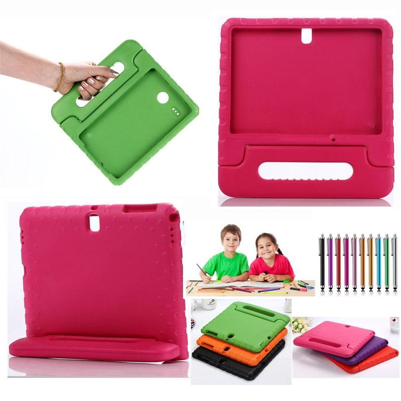 Цена за Дети Ручка Красочный Стенд Безопасный Чехол Для Samsung GALAXY Tab T280 T377 N5100 P600 T560 T230 T580 T700 T350 Tablet Жесткий Крышки ПК