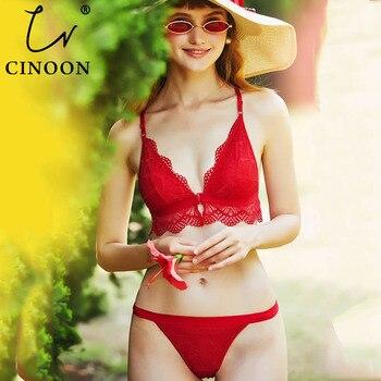 f8b5deb4b37d Nuevo conjunto de Sujetador de encaje de moda para mujer, ropa interior de  alta calidad, lencería ...
