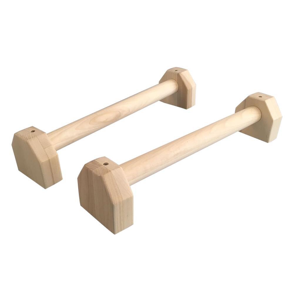 Fitness push-up Stands barres Sport Gym exercice entraînement poitrine H en forme de bois calisthénics Handstand barre parallèle Double tige