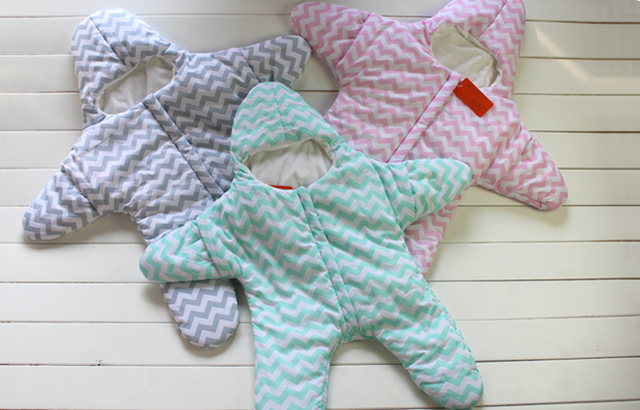 2016 Infant Newborn Baby Sleeping Bag Children Starfish Multifunction Baby Boy Girl Carry Bags Baby Swaddle Sleeping Products