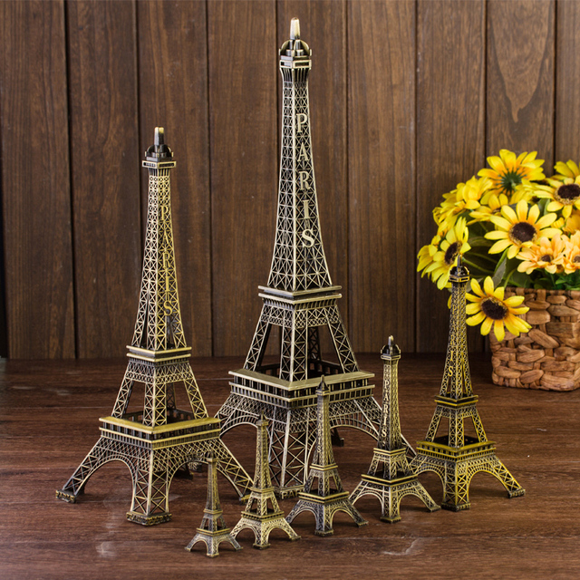 Paris Eiffel Tower Decoration Model Metal Home Decor Birthday Gift Small Crafts Accessories Vintage