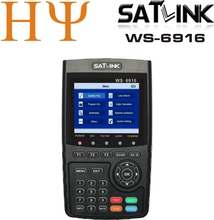 Originele Satlink Ws 6916 Satelliet Finder DVB S2 MPEG 2/MPEG 4 Satlink WS 6916 High Definition Satelliet Meter Tft Lcd scherm