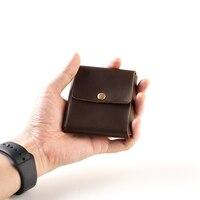 Men Wallet Cowhide Genuine Leather Wallets Coin Purse