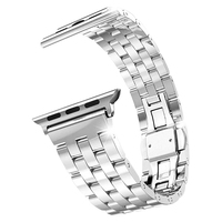 Stainless Steel Metal Strap Band 5 Ball Link Bracelet For Apple Watch IWatch 42mm