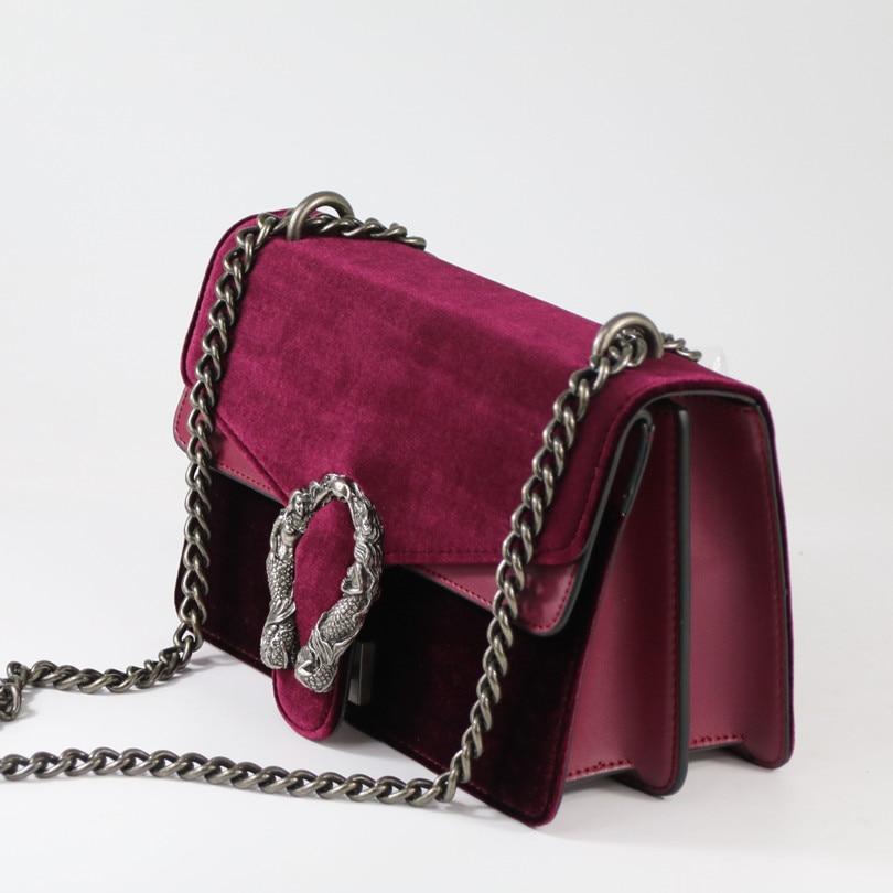 Fashion Chain Casual Shoulder Bag Messenger Bag Retro Hit Color Women BagHandbag Ladies Flap Motorcycle bag~17B27