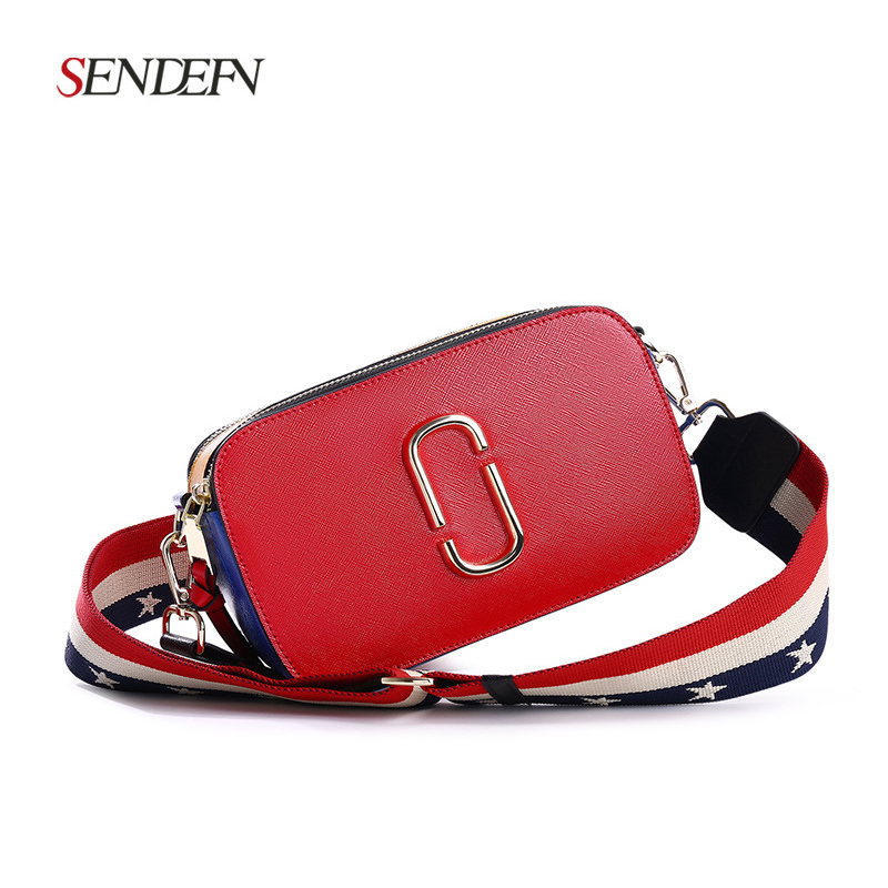 2018 new female bag mini camera bag summer small square package Korean version of the wild shoulder Messenger bag 2018 new female korean version of the bag with a small square package side buckle shoulder messenger bag packet tide