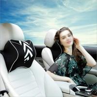 Space Memory Cotton Car Headrest Pillow Neck Guard Pillow Car Styling For BMW e46 e90 e39 f30 f10 e36 e60 x5 e53 f20 e34