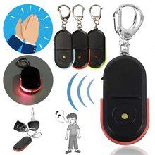 Новые смарт Беспроводной анти-потерянный сигнал тревоги Key Finder брелок для ключей с локатором со свистком и светодиодный светильник вещи тре...