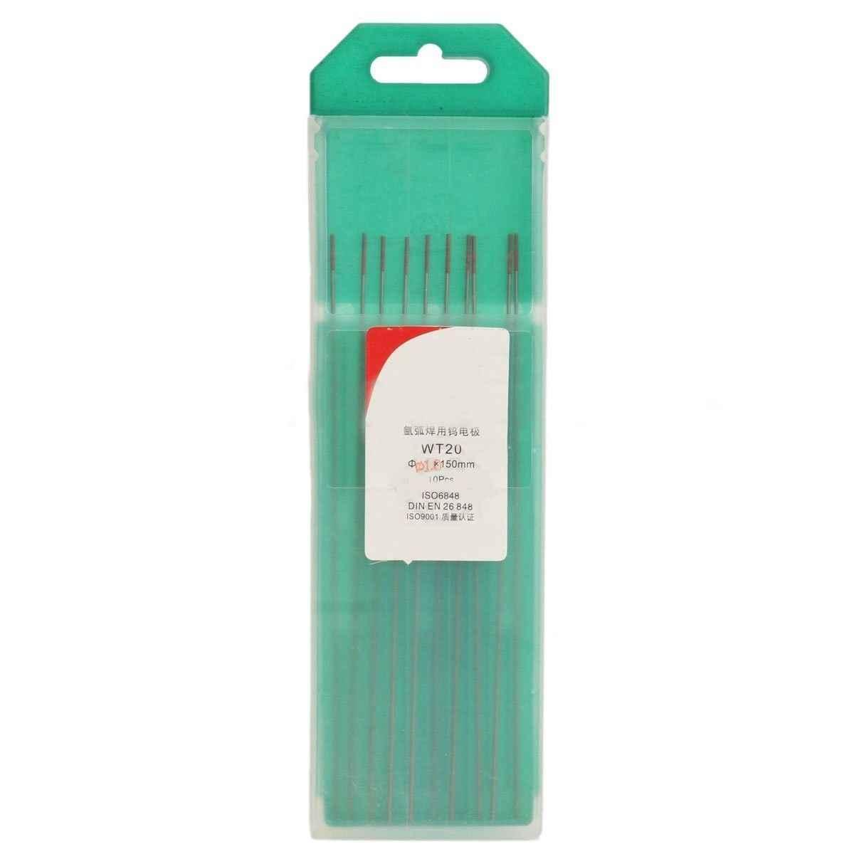 Высокое качество 10 шт. WT20 Вольфрам 2% Lanthanated TIG сварочные электроды 150 мм/6 дюймов