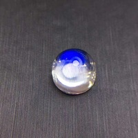 Natural Moonstone without fire,Full and round . Specifications:11mm*7mm.Beautiful blue light.