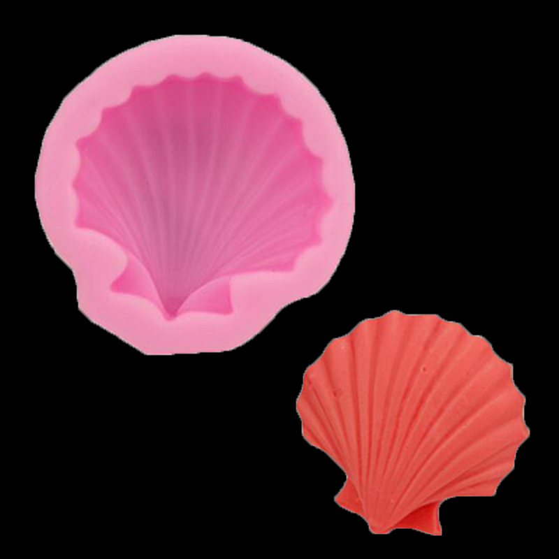 Seashells Handmade Soap Silicone Mold Cake Decoration Fold The West Point Diy Baking Christmas Gift Decoration