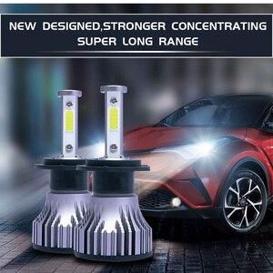 Image 2 - 2 個 4 辺 Led ランプ H1 H11 H4 LED H7 12 V 車のライト HB4 9005 9006 9004 9007 9012 880 881 H27 H13 オートヘッドライト電球 6500 18K