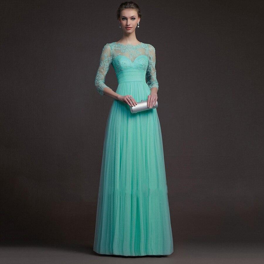 Anpassen Günstige eine Linie Spitze Hochzeit Kleid lange Trauzeugin ...