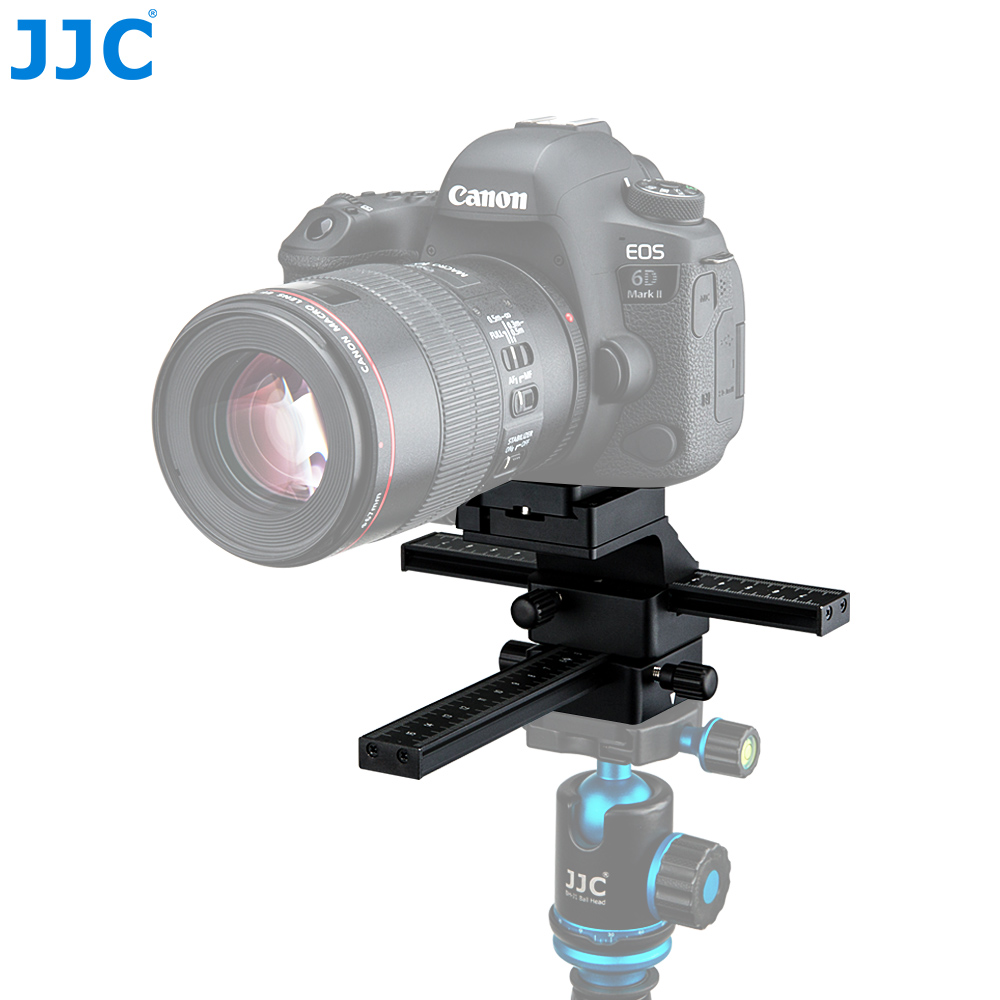 JJC Macro Focusing Rail Rrecise Positioning Of a Camera In X And Y Directional Axes Features Arca Swiss Quick Release Plate JJC Macro Focusing Rail Rrecise Positioning Of a Camera In X And Y Directional Axes Features Arca Swiss Quick Release Plate
