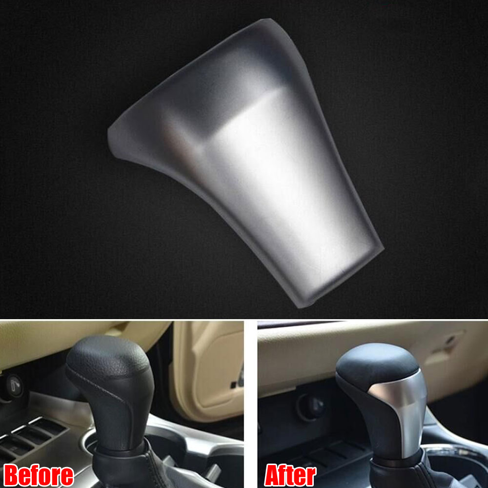 1Pc ABS Car Auto Console Gearshift Gear Shift Knob Decal Cover Trim Sticker Fit For Toyota 2015 Highlander Car Styling