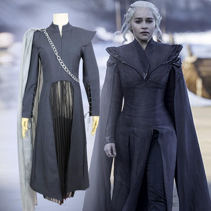 Game Of Thrones Daenerys Targaryen Dany Cosplay Costumes Women Dragon Mother Halloween Dress Can Customizable