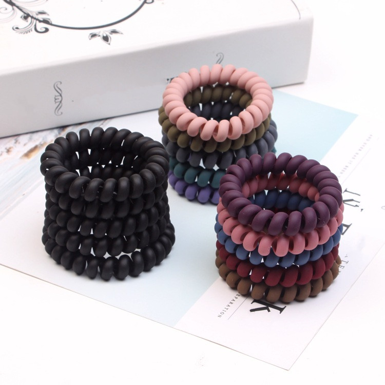 3Pcs/lot Big Telephone Line Hairbands Matte Headband Elastic Hair Bands Women Girl Ring Scrunchy Hair Accessories