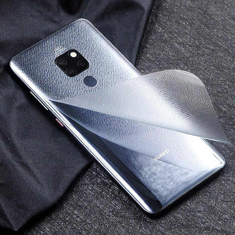 Carbon Fiber Soft Film For Huawei Mate20 20 Pro 20 Lite Transparent Leather Screen Protector Back Film For Huawei Mate 20 Pro