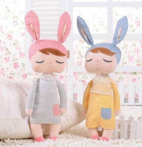 Cadeaux uniques de haute qualité douce mignon Angela lapin poupée Metoo baby doll en peluche pour enfants panda papillon bee poupee poupées