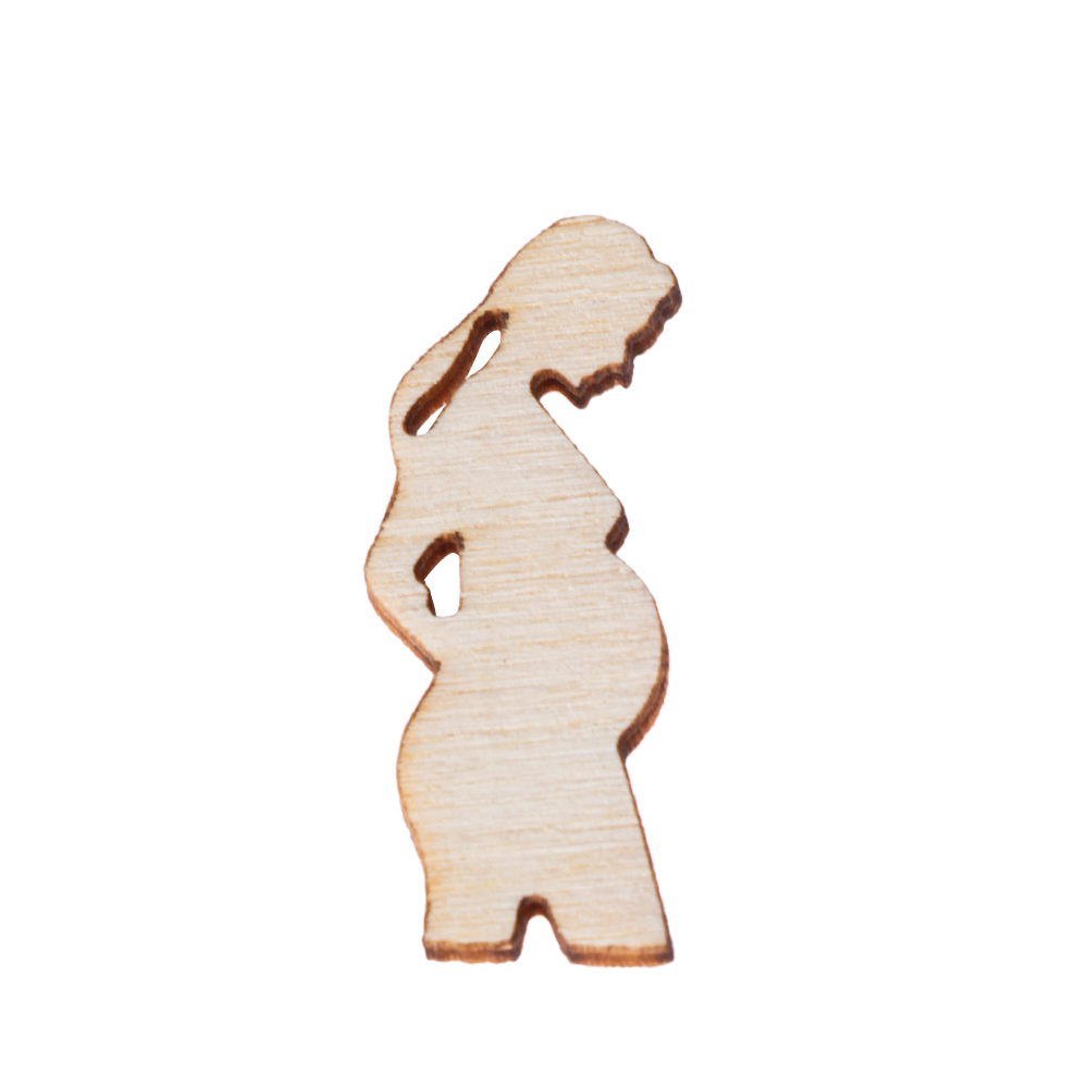 10PCS Pregnant Woman Mother's Day Embellishment Laser Cut Wooden Slice Hanging Ornaments Handcraft Wood DIY Crafts Home Decor