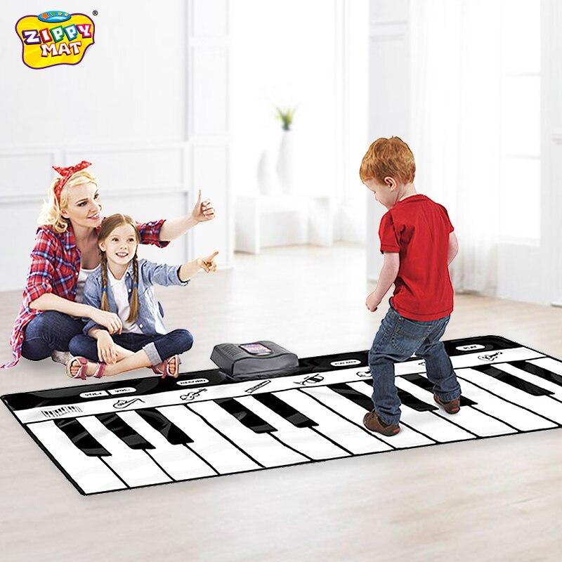 À Vendre! Clavier de Piano couverture claviers portables tapis de danse jouets musicaux outil d'éducation précoce jouets 17 clés 120*46 cm